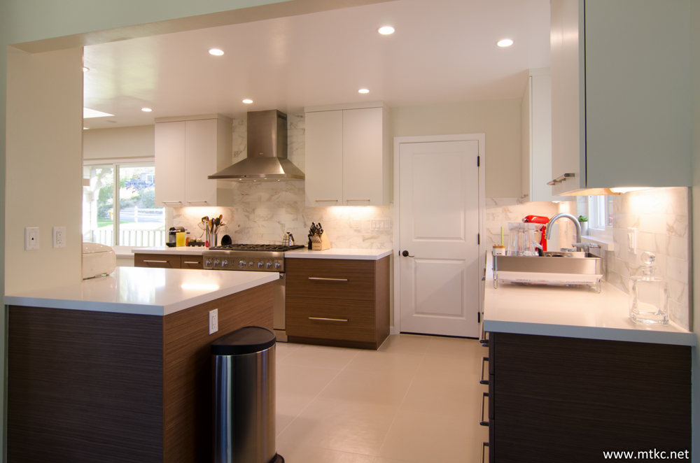 Two tone modern kitchen remodel from Sollera, designed by MTKC.