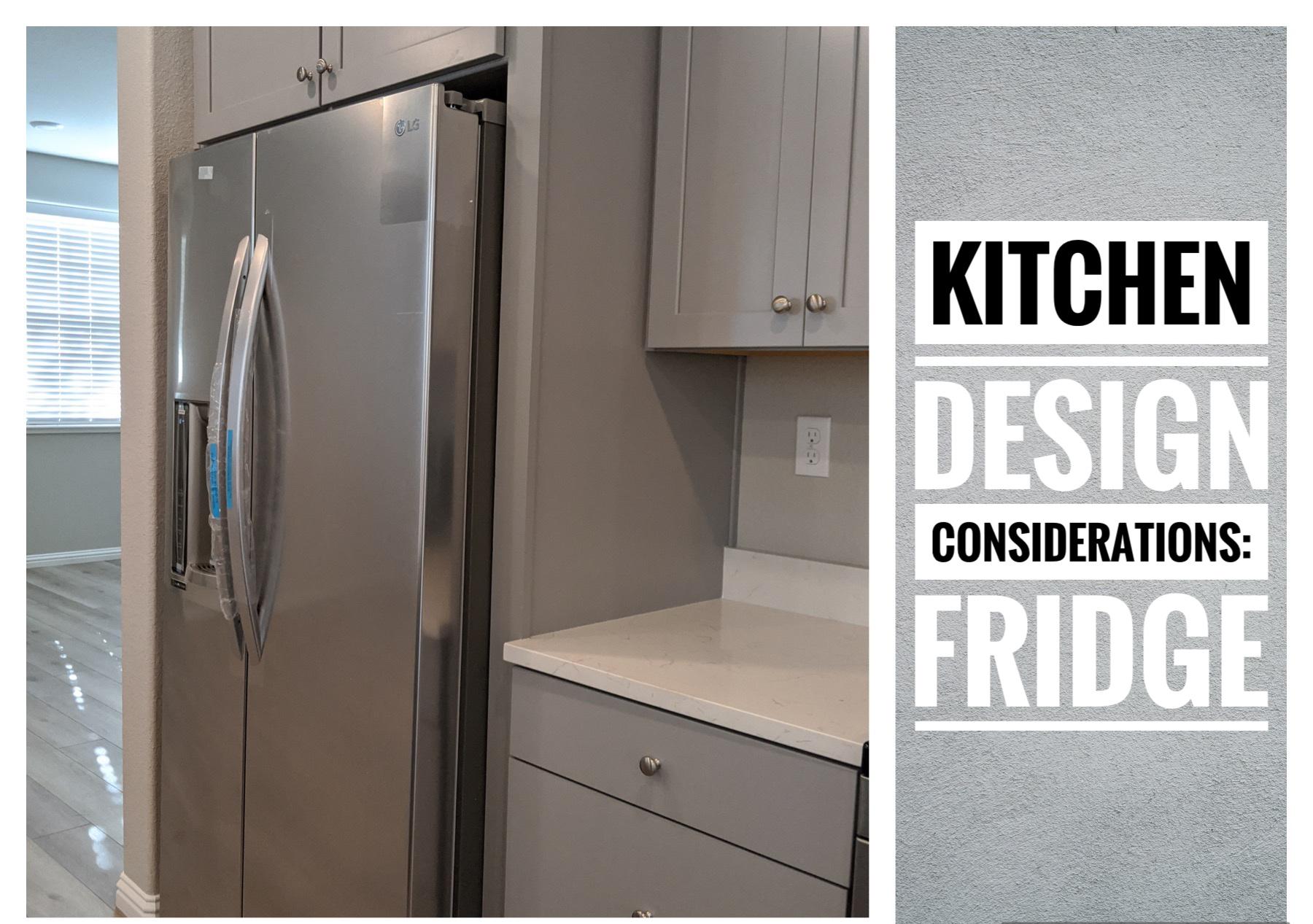 A thumbnail photo for kitchen design consideration- fridge